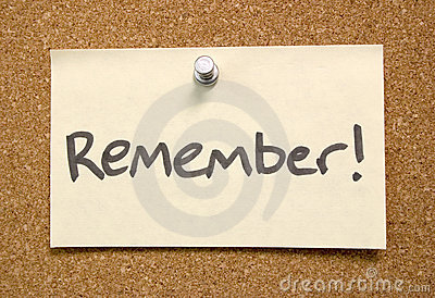Remember Postit Note