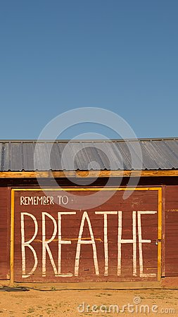 Free Remember To Breathe Inspirational Message Phone Wallpaper Stock Images - 103734124