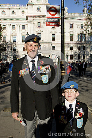 Remembrance Day Parade, 2012 Editorial Stock Photo