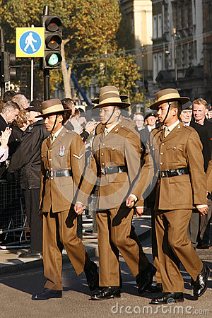 Remembrance Day Parade Editorial Photo