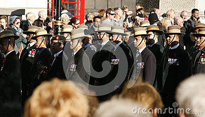 Remembrance Day Parade Editorial Stock Photo
