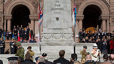 Remembrance Day Service Editorial Stock Image