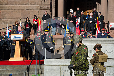 Remembrance Day in Toronto Editorial Photography
