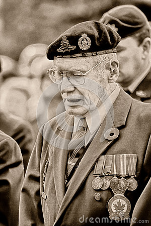 Remembrance Day War Vet Editorial Photography
