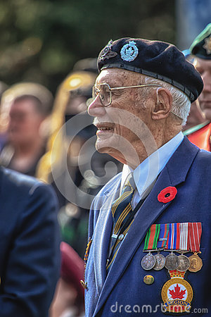 Remembrance Day War Vet Editorial Stock Photo