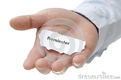 Reminder - Note Series Stock Photo