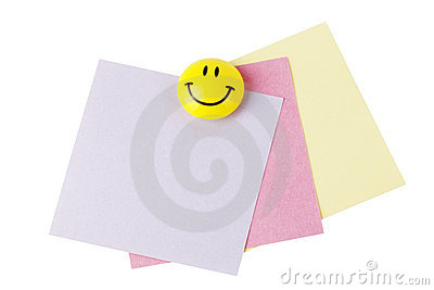 Reminder papers with smiley