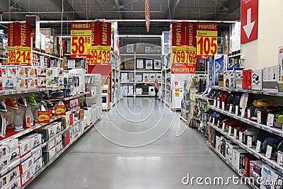 Remises dans le supermarché Photo stock éditorial