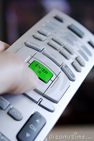 Remote control enter button