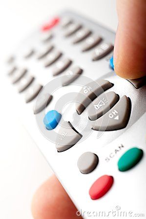 Remote control in a hand