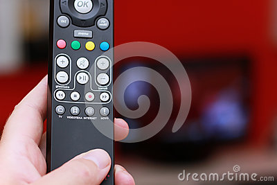 Remote control of internet tv