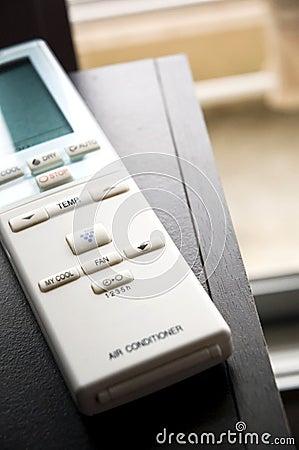 Remote control put on desk