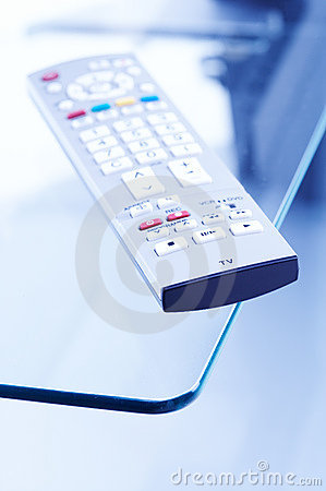 Remote Control on tv table