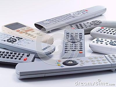 Remote controls.