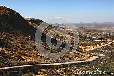 Remote desert road - Damaraland - Namibia