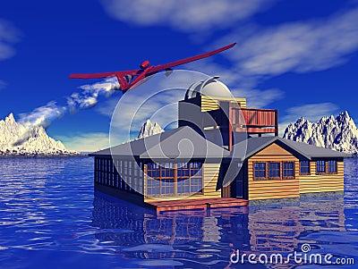 Remote dream home and aircraft