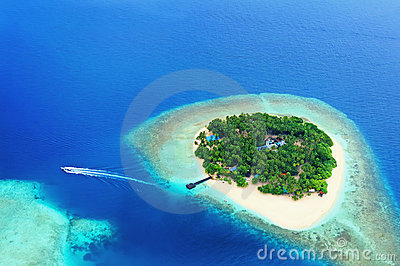 Remote Island in the ocean