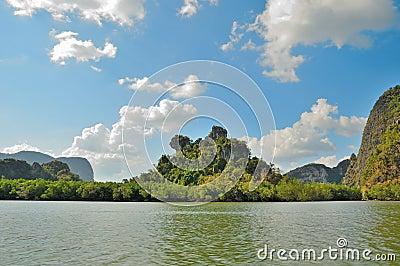 Remote islands in Thailand