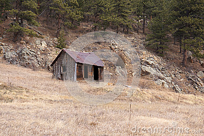 Remote mountain miners cabin