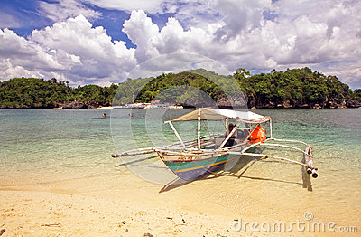 Remote Tropical Beach Editorial Stock Image