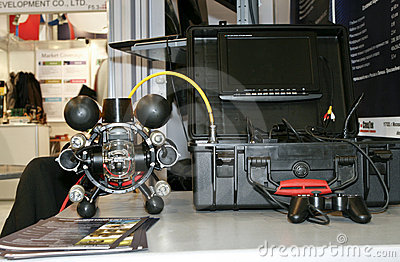 Remotely controlled underwater vehicle RB-600 Editorial Image