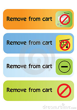 Remove from cart - vector