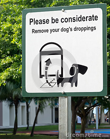 Remove dog s droppings signboard