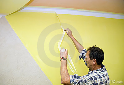 Removing paint tape