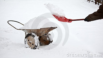 Removing snow from territory