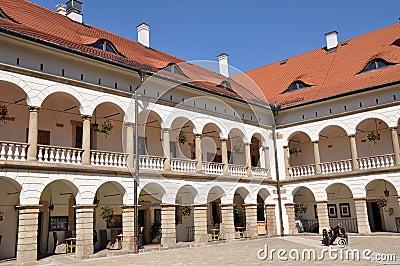 Renaissance castle courtyard