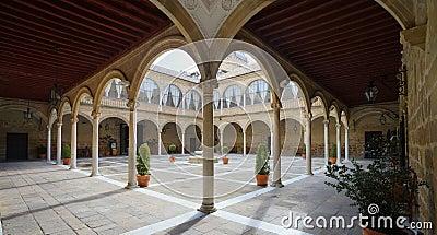 Renaissance Courtyard of Santiago Hospital Stock Photo