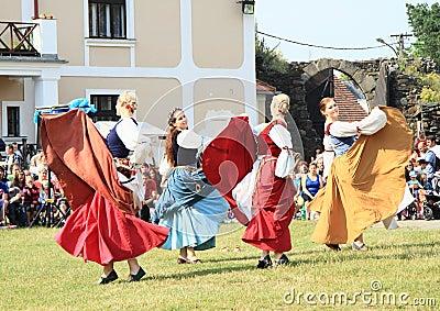 Renaissance dancers Editorial Stock Photo