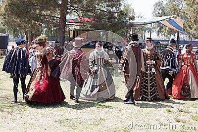 Renaissance Faire dance Editorial Image