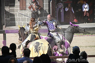 Renaissance Faire jousting Editorial Photo