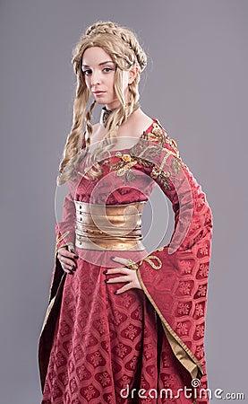 Free Renaissance Fashion Beauty Royalty Free Stock Photography - 45599277