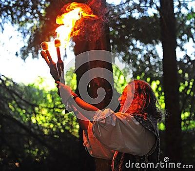 Renaissance fayre juggler Editorial Photo