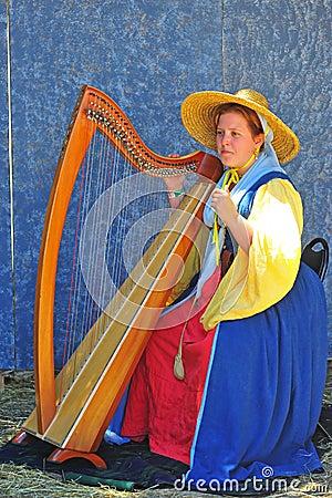 Renaissance fayre musician Editorial Image