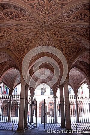 Renaissance palace entrance