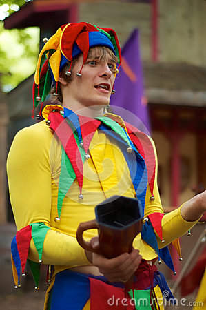 Renaissance Performer - Court Jester Editorial Photography