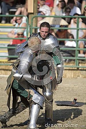 Renaissance Pleasure Faire - Knights Battle 13 Editorial Stock Photo