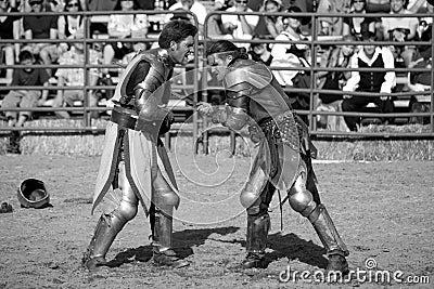 Renaissance Pleasure Faire - Knights Battle 15 Editorial Stock Image