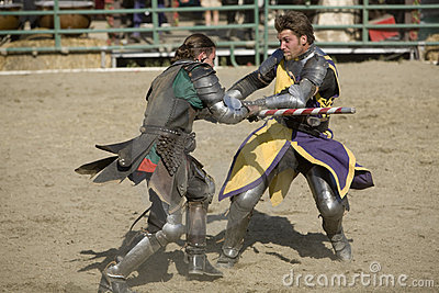 Renaissance Pleasure Faire - Knights Battle 6 Editorial Photography