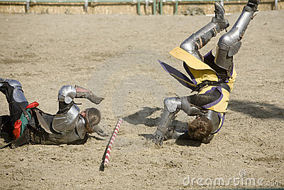 Renaissance Pleasure Faire - Knights Battle 8 Editorial Stock Photo