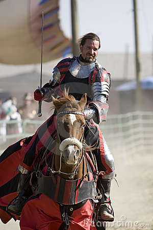 Free Renaissance Pleasure Faire - Knights On Horseback 2 Stock Photography - 5044322