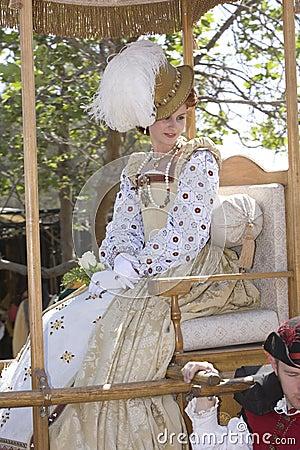 Renaissance Pleasure Faire - The Queen 1 Editorial Image