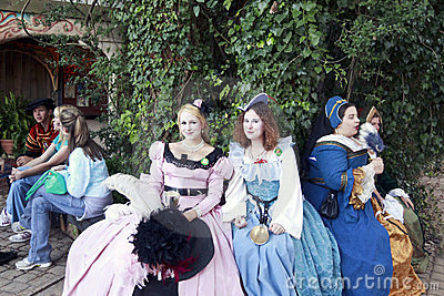 Renaissance Princesses Editorial Photography