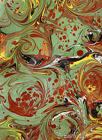 Renaissance Victorian Marbled Paper 5 Royalty Free Stock
