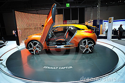 Renault Captur Concept car Editorial Image
