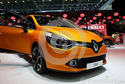 Renault Clio 2014 Editorial Stock Photo