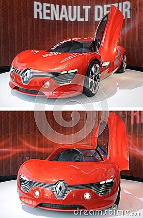 Renault Dezir on display in showroom Editorial Photography